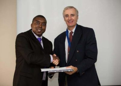 Ian Hlongwane 1st Attempt at PQE winner with Sponsor Alpha Shipping, Capt Richard Brook-hart