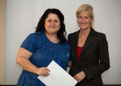 Jody Morley FD Winner with Sponsor Phoenix Shipping Barbara Rankin