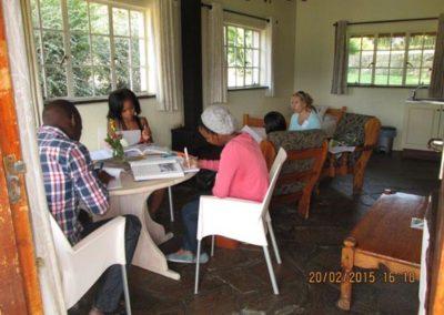 Natasha with LMT students