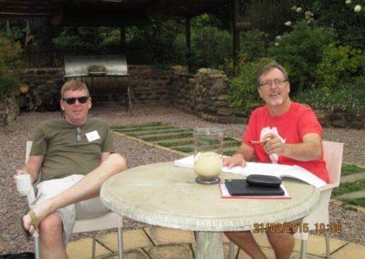 Rob & Tony working hard