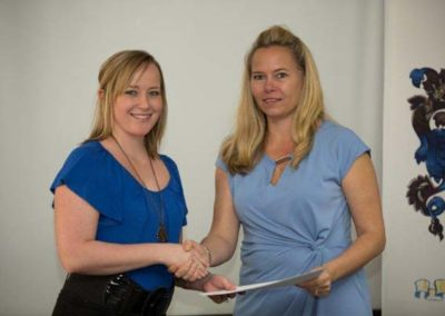 Theresa Ferreira, PA Winner - Sponsor Grindrod